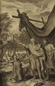 Illustration from the 1728 Figures de la Bible; illustrated by Gerard Hoet (1648-1733) and others, and published by P. de Hondt in The Hague; image courtesy Bizzell Bible Collection, University of Oklahoma Libraries